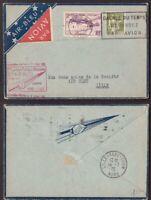 France, 1935 first air mail Paris - Lille flown cover    -AY35