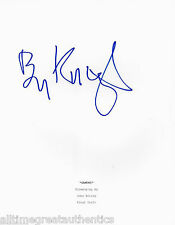 "BEN KINGSLEY SIGNED ""GANDHI"" FULL 182 PAGE MOVIE SCRIPT w/COA OSCAR BEST ACTOR"