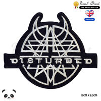 Amulet Disturbed Punk Embroidered Iron On Sew On Patch Badge For Clothes etc