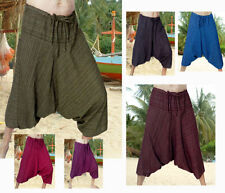 """Mid 7 to 13"""" Inseam Cotton Loose Fit Striped Shorts for Men"""