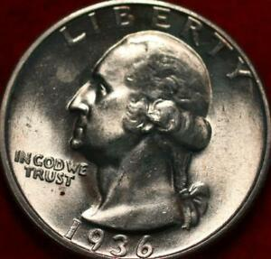 Uncirculated 1936-S San Francisco Mint Silver Washington Quarter