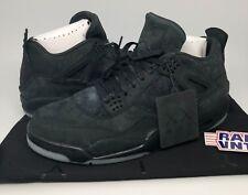 DS Nike Air Jordan x Kaws IV 4 Retro Sneakers Size 13 Black Suede Glow