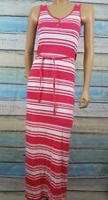 TOMMY HILFIGER Extra Small Pink And White Ankle Length Cotton Blend Sheath Dress