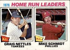 1977 Topps  #2 Graig Nettles, Mike Schmidt - 1976 Home Run Leaders