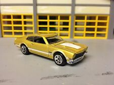 1/64 1971 Ford Maverick Grabber in Gold/White Stripe Gray Int.