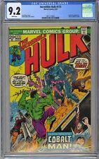 Incredible Hulk #173 CGC 9.2 NM- Wp Vs. Cobalt Man Battle Cvr Marvel Comics 1974