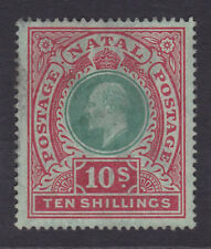 Natal. SG 170, 10/- green & red/green. Mounted mint.