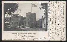 Postcard GENEVA Ohio/OH  Military Armory Rifles Building view 1905