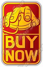 "Online Shopping Hand On Mouse Buy Gift Idea Car Bumper Vinyl Sticker Decal 6""X3"""