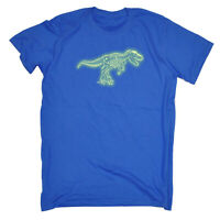 Funny Kids Childrens T-Shirt tee TShirt - Trex Bones Dnosaur Glow In The Dark