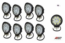8 PCS 12V/24V 27W 9 Round LED Work Light Spot Beam Lamp 4WD Jeep SUV ATV boat