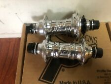 PROFILE RACING POLISHED 9 T MINI HUB SET RHD 9T CASSETTE BMX BIKE CHROME HUBS