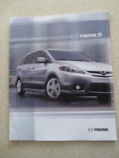 2007 Mazda 5 advertising booklet