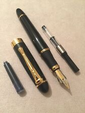 JINHAO X450 BLACK & GREEN GT FOUNTAIN PEN-M NIB-CONVERTER-CARTRIDGE-UK SELLER