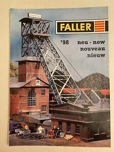 Faller Prospekt Heft Modellbau '98 Neuheiten 23 Seiten Broschüre Stadt Bahnhof..