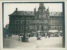 België, Antwerpen. Rathaus, 1911  vintage silver print. Belgium.  Tirage argen