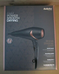 New BaByliss Bronze Shimmer 2200 W Hair Dryer,Blow Dry,Ceramic,Ionic,Lightweight