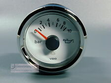 VDO ÖLDRUCKANZEIGER OIL 10 bar  INSTRUMENT 12 / 24V weiß pressure GAUGE LED