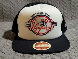 New York Yankees White/Navy New Era Heritage Series Mesh Snapback Hat adjustable
