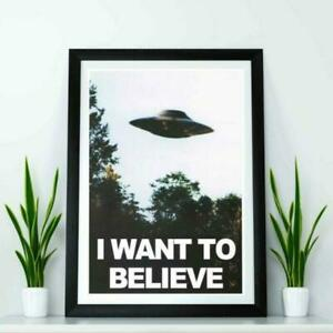 X-Files I want to Believe poster - High quality reproduction print.