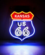 "Route 66 Kansas State Ks Neon Lamp Sign 14""x10"" Acrylic Bright Lighting Display"