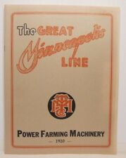 The Great Minneapolis Line, 1920, 44 pages