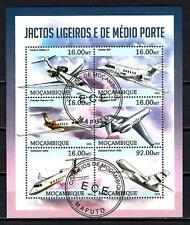 Avions Mozambique (69) série complète de 6 timbres oblitérés
