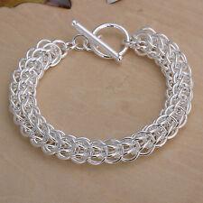 """Women's Unisex 925 Sterling Silver Bracelet 8"""" L56"""