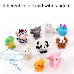 Soft Plush Animal Finger Puppets Set Baby Story Time Animal Style for Toddlers