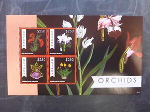 2012 GUYANA ORCHIDS OF SOUTH AMERICA 6 STAMP MINI SHEET MNH