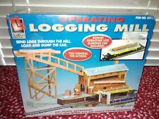 Life-Like Logging Mill - HO Scale Bonus Operating Log Dumping Car New Sealed!!!