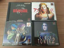 Lote Ps1 psx-Bio Hazard-D-Policenauts-Clock tower 2 Konami Capcom ntcs