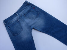 *B-198 Diesel Industry RIVEC Straight leg DENIM JEANS BLUE wash Relaxed fit 34