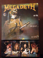 "Megadeth So Far So Good So What   4""X6""  Vintage Postcard  Near Mint condition"