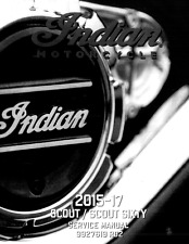Indian Scout and Scout Sixty motorcycles 2015 2016 2017 service manual on CD