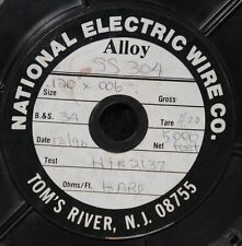"NOS National Electric Alloy SS 304 wire 5000 feet .006"" X .120"" Stainless wire"