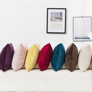 """22"""" Large Velvet Plain Cushion Cover Pillow Case Home Sofa Decor 55cm*55cm New"""