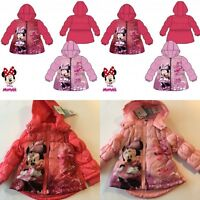 Baby Girls Disney Minnie Winter Padded Jacket Coat Hooded 3-23 months