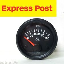VDO VISION 52mm 12v 100 PSI OIL PRESSURE GAUGE with POD HOLDER BRAND NEW..!