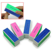 5 Pcs Beauty Nail Art Manicure 4 Way Shiner Buffer Buffing Block Sanding File