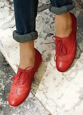 Unbranded Flat (less than 0.5') Lace-up Shoes for Women