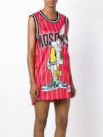 Moschino Jeremy Scott Bugs Bunny Tank Top Jersey Mini Dress Looney Tunes MEDIUM