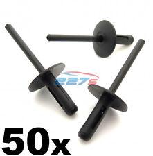 50x BMW PLASTICA POP Rivetti ciechi 6mm, dei passaruote, lato gonne, davanzali & PARAURTI