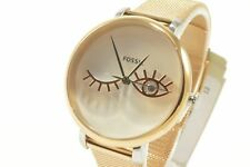 Fossil ES4414 Jacqueline Wink Eye Rose Gold-Tone Stainless Steel Mesh Ladies ...