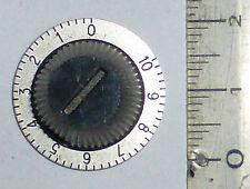Mini bouton STOCKLI plaque vernier axe 6 mm laiton bakélite alu militaire NOS