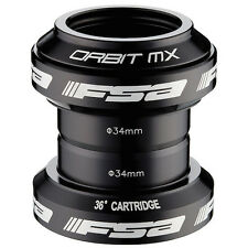 "FSA Orbit MX 34mm Threadless Headset for Bike Bicycle 1-1/8"" Steerer - Black"