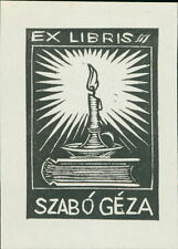 'Szabó Géza'  Bookplate      (JC.79)