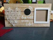 New ListingWedding Countdown Chalk Picture Frame Wall Decor Heart String Art Engagement