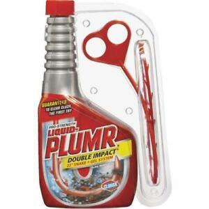 "Clorox Liquid-Plumr Pro-Strength Double Impact Drain Cleaner 18 oz. & 23"" Snake"