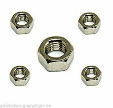 M7 DIN 934-8 8 Sechskantmuttern Stahl blank Muttern Sechskant-Muttern 20-500St.